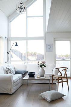 Airiness. <3. Home By Linn   via Norwegian interiors blogs