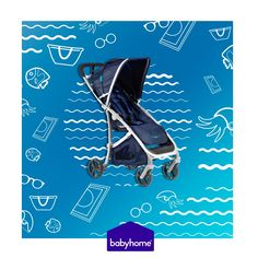"""""""When the weather's fine we go fishin' or go swimmin' in the sea.We're always happy, life's for livin' yeah, that's our philosophy"""" 🎵 🎶  Music makes our life meaningful, but our BABYHOME Emotion #stroller does not take second place  😆 Let´s feel the #Mediterranean spirit with the Navy BABYHOME Emotion, more #summerish than ever! 💦💙🐳🐟"""