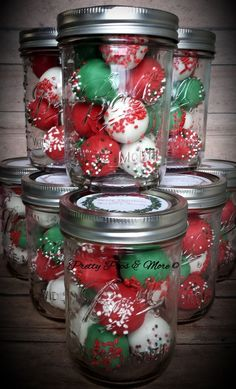 Mason Jar Cake Pops for Christmas by Pretty Pops & More in Cypress, Texas