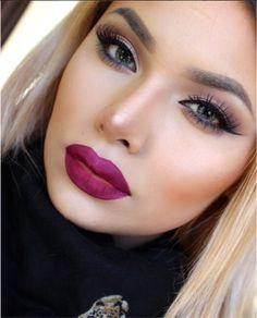 ✦⊱Make up glam✦ I Love Makeup, Gorgeous Makeup, Pretty Makeup, Makeup Inspo, Makeup Inspiration, Makeup Tips, Beauty Makeup, Makeup Looks, Makeup Ideas