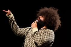 Reggie Watts: A send-off in style by PopTech. Reggie Watts, the final performer on the PopTech 2011 stage, sends the audience off in style with his characteristic blend of wry improvisational humor and unpredictable musical riffs. Using only his microphone and a looping machine, Watts creates a brilliant pastiche of the conference and brings the conference attendees to their feet to dance.