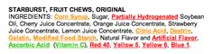 created this chart to help navigate better candy choices without the added chemicals, preservatives, trans fats, artificial colors and GMOs.  The brands on the right are amazing GMO free substitutes that are very similar tasting to the popular candy brands on the left