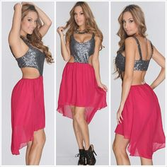 Pink sexy outfit dress