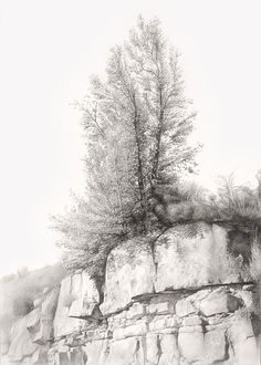 # D r a w i n g by Carlos Castillo Seas Landscape Sketch, Landscape Artwork, Landscape Drawings, Landscapes, Drawing Rocks, Line Drawing, Painting & Drawing, Graphite Drawings, Pencil Drawings