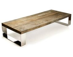 Darren Contemporary Reclaimed Wood Steel Coffee Table - transitional - Coffee Tables - Kathy Kuo Home
