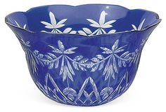 Blue Cut-to-Clear Bowl III on OneKingsLane.com