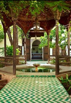 At the El Bahia Palace in Marrakech, Morocco. Take me back to Marrakech. Outdoor Spaces, Outdoor Living, Outdoor Patios, Outdoor Kitchens, Gazebo, Pergola, Patio Awnings, Design Jardin, Marrakech Morocco