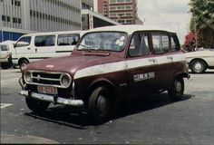 An old Renault in the old Rhodesia John Rhodes, Zimbabwe, The Good Old Days, Taxi, Black History, Childhood Memories, South Africa, Classic Cars, Nostalgia