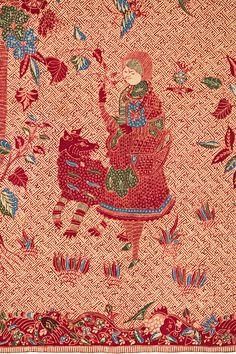Batik Pekalongan, Red riding hood motif - pekalongan red