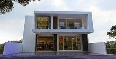 60 Desain Ruko 2 Lantai Minimalis dan Modern | Desainrumahnya.com Apartment Design, Home Fashion, Townhouse, House Plans, Sweet Home, Floor Plans, House Design, Flooring, House Styles