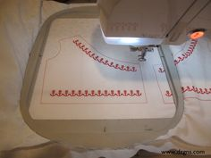 "Details. . .they're what takes your doll clothes from ""so-so"" to ""wow"".  Machine embroidery is one of those special details.  In this tutorial (complete with step-by-step photos), Eileen's Machine Embroidery blog explains the steps to placing your designs exactly where you want them."