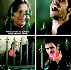 """You're my oldest friend"" - Rumple & Killian One hand, one heart..."