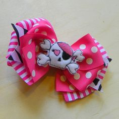 Pink Pirate Hairbow
