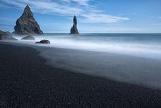 Reynisdrangar Sea Stacks near the village Vik I Myrdal Iceland
