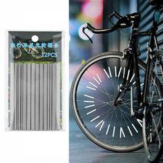 도매 24 개 반사 마운트 클립 튜브 경고 스트립 자전거 자전거 휠 반사판 산악 후면 자전거 반사 빛