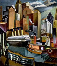 NYC. Jan Matulka - New York Harbor
