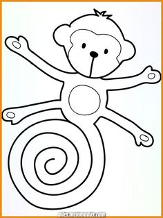 Head to the webpage to learn more on fun craft activities for kids Duck Crafts, Monkey Crafts, Monkey Art, Animal Crafts, Art For Kids, Crafts For Kids, Crafty Kids, Preschool Crafts, Preschool Activities