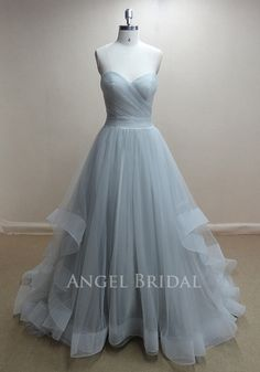 ALine Moonlight Tulle Wedding dress Wedding gown by AngelBridal, $220.00
