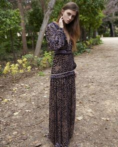 16 Blouson-sleeves, V Neck Devore Long Dress Christos Costarellos, Greek History, Graphic Patterns, Fall 2018, Beautiful Eyes, Ready To Wear, V Neck, Gowns, Lace