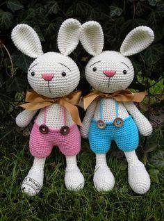 My Crochet Privacy ...: Króliczki Elroy i Melvin / Elroy and Melvin the Bunnies