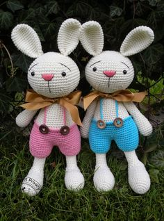 My Crochet Privacy ...: Króliczki Elroy i Melvin / Elroy and Melvin the Bunnies