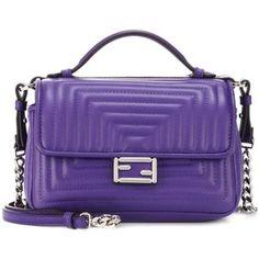 Fendi Double Micro Baguette Leather Shoulder Bag
