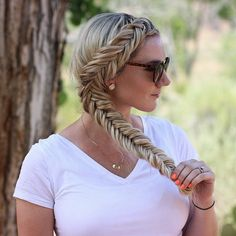 """My Dutch Fishtail Braid tutorial just reached 1 million views on YouTube!  Coolest thing ever!!! Love you guys!  Search ""Annies Forget Me Knots"" on YouTube for this tutorial. (I'm leaving the nume sale link in my bio for the flat iron, it ends tonight so don't forget to take advantage if you've been wanting to!) "" Photo taken by @anniesforgetmeknots on Instagram, pinned via the InstaPin iOS App! http://www.instapinapp.com (06/14/2015)"