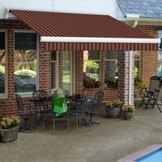 enjoy the outdoors with a retractable awning
