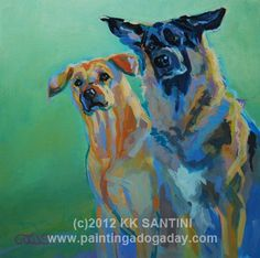 Double Trouble, painting by artist Kimberly Kelly Santini