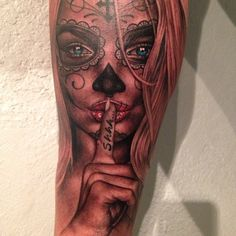 #muerta black and grey with a touch of color. #shhh! #tattoo #tatubaby #tatubabytattoos @Fk Irons #spektra @fusion_ink @tattooafterlife @bigprick_tattoosupply for appointments go to WWW.TATUBABY.COM - @Sam Taylor Deaton- #webstagram