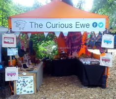 Our stall at The Secret Village festival, 2014 #CuriousEwe #Ireland