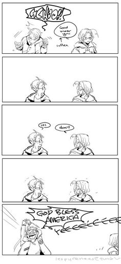 God Bless America :D this makes me happy, and thankful for America being my favorite Hetalia character