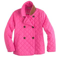 J.Crew Girls' quilted peacoat.