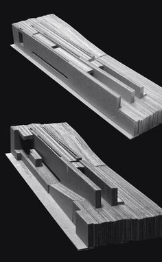 Landscape Model:  Lamination:  Stables for People and Horses RCR Architects