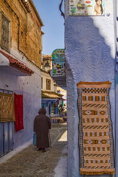 Chefchaouen Street by Lindley Johnson