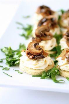 Mushroom and Mascarpone Tarts