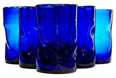 1960s Blenko Cobalt Glass Tumblers $ 185