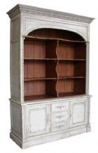 FRENCH COUNTRY CHIC LARGE BOOKCASE DISPLAY CABINET