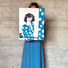 Artist Cordula Opitz showing her mixed media art.