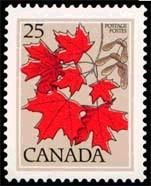 Canada Stamp - Sugar Maple  (1977-1982)