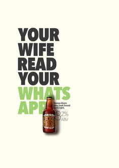 Boca Maldita Beer: WhatsApp Some days you just want to forget. Advertising Agency: Candy Shop, Curitiba, Brazil