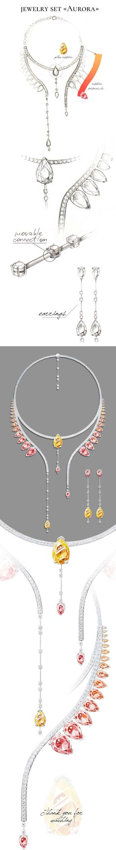 jewelry set «Aurora»-Jewel Design Competition, 2016
