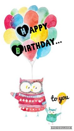 Owl family wishes you a Happy birthday!
