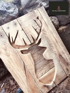Available to order on Facebook through the link Log Table, Pallet Wall Art, Stag Head, Bird Boxes, Table Centers, Milling, Woodworking, Facebook, Link