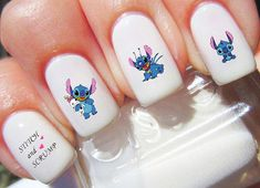 Lilo & Stitch Disney Nail Decals from DecalGoddess on Etsy. Saved to Etsy Accessories . Lilo & Stitch Disney Nail Decals from DecalGoddess on Etsy. Saved to Etsy Accessories . Nail Art Disney, Disney Acrylic Nails, Disney Nail Designs, Best Acrylic Nails, Acrylic Nail Art, Cute Nail Designs, Disney Decals, Disney Stitch, Cute Nail Art