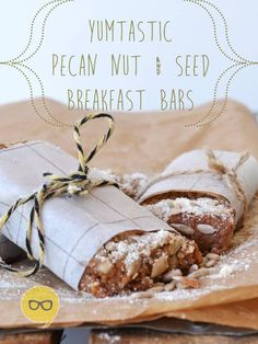 These banting breakfast bars are perfect for when you just don't want eggs. Banting Diet, Banting Recipes, Low Carb Recipes, Real Food Recipes, Health Recipes, Paleo Breakfast Bars, Banting Breakfast, Pecan Nuts, Healthy Cooking