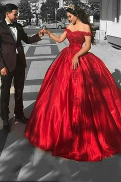 Elegant Arabic Red Prom Dress,Ball Gown Prom Dresses ,Long Off The Shoulder Prom Dress,Lace Appliques Beaded Puffy Evening Dress,Party Gowns Quinceanera Dress Lace Ball Gowns, Ball Gowns Evening, Ball Gowns Prom, Ball Gown Dresses, Dresses Uk, Evening Dresses, Satin Dresses, Long Dresses, Corset Dresses