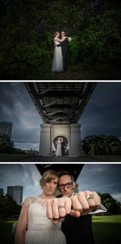 The wedding that rocked! Seja and Simon got married at Captain Burke Park, Kangaroo Point under the Story Bridge.