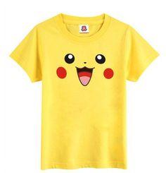 $29.99 + FREE SHIPPING! Pokemon Smiley Pikachu Face Yellow T-Shirt