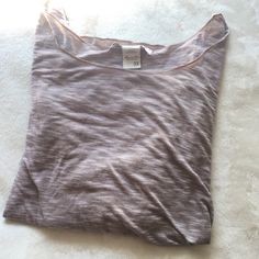 American Rag Light Weight Tee American Rag 3/4 sleeve light weight soft tee in a pinkish nude- worn but in great condition and super comfortable! American Rag Tops Tees - Long Sleeve